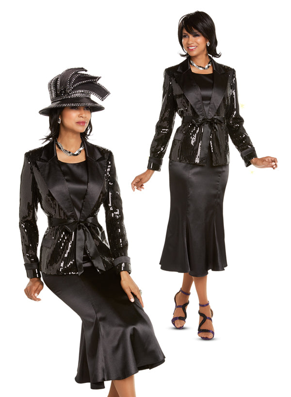 DONNA VINCI 11675 WOMEN 3PC SKIRT SUIT