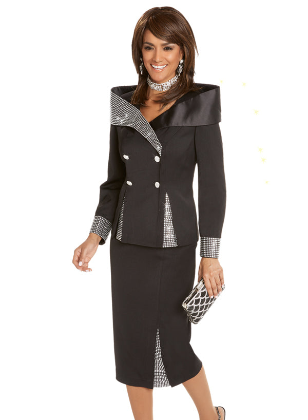 DONNA VINCI 11686 WOMEN 2PC SKIRT SUIT