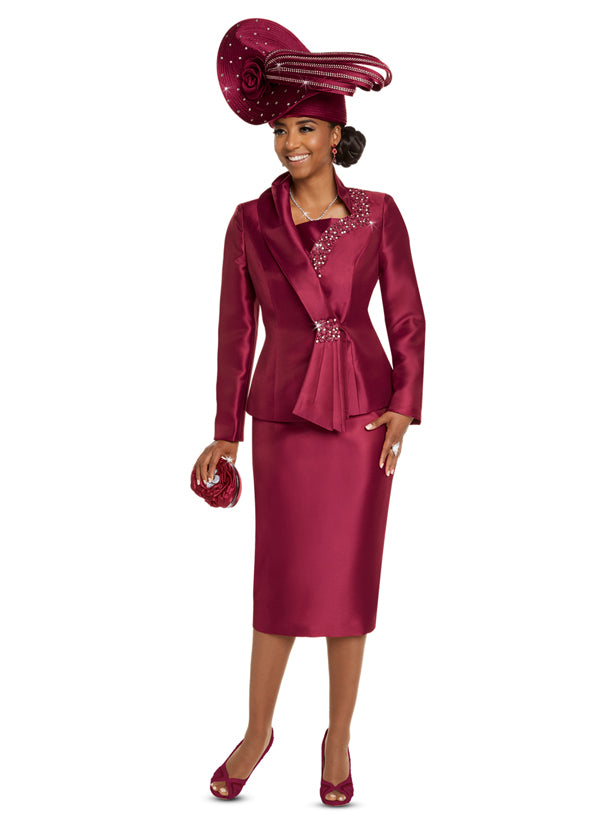 DONNA VINCI 11714 WOMEN 2PC SKIRT SUIT