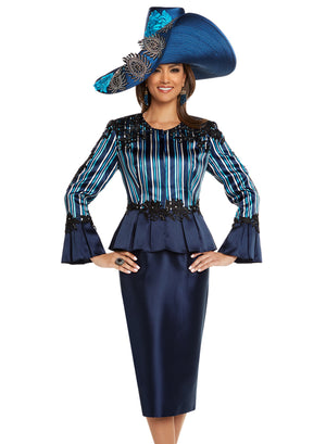 DONNA VINCI 11724 WOMEN 2PC SKIRT SUIT