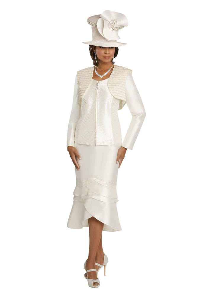 DONNA VINCI 11742 PEARL TRIM 3PC SUIT