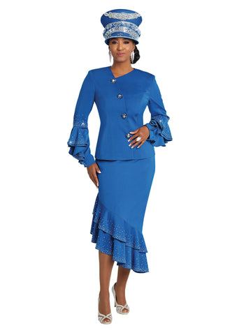 DONNA VINCI 11754 EMBELLISHED 2PC SKIRT SUIT