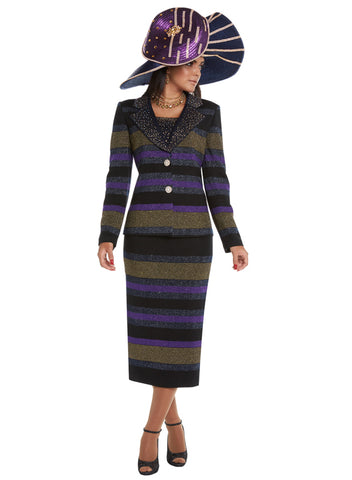 DONNA VINCI KNIT 13210 SKIRT SUIT