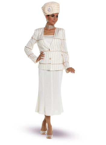 CHURCH SUIT DONNA VINCI KNIT 13212 SKIRT SUIT