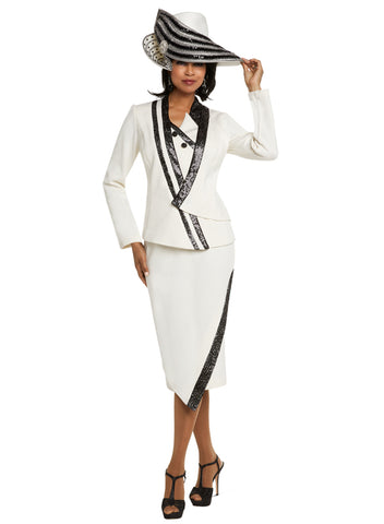 WOMENS CHURCH SUIT DONNA VINCI KNIT 13231 SKIRT SUIT