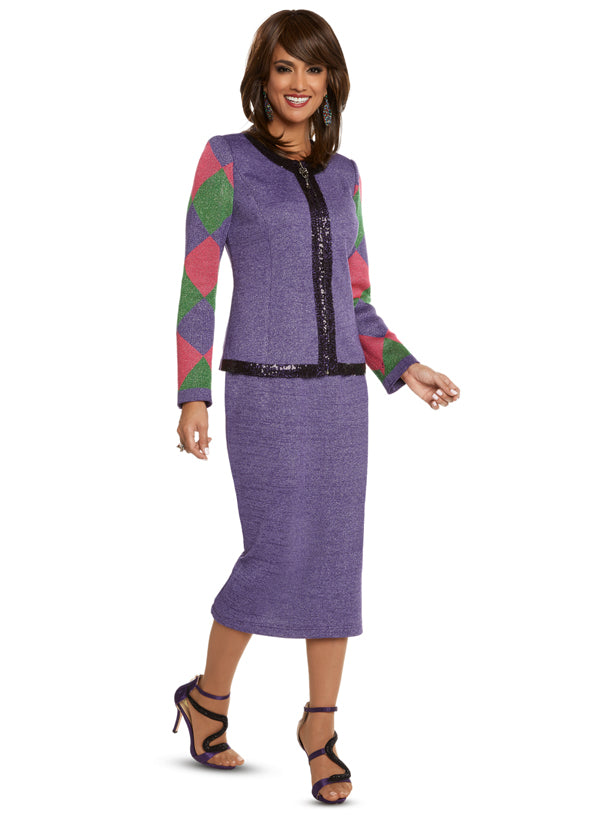 CHURCH SUIT DONNA VINCI KNIT 13235 SKIRT SUIT