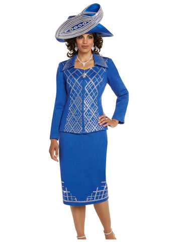CHURCH SUIT DONNA VINCI KNIT 13238 SKIRT SUIT