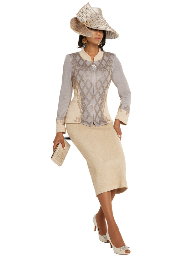 CHURCH SUIT DONNA VINCI KNIT 13240 SKIRT SUIT