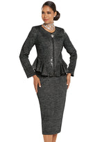 DONNA VINCI KNIT 13245 SKIRT SUIT