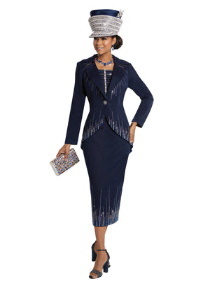 DONNA VINCI 13247 KNIT 2PC SUIT