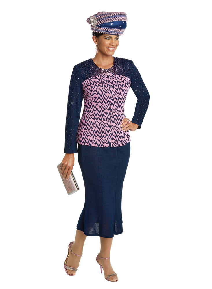 DONNA VINCI 13255 KNIT SUIT 2PC