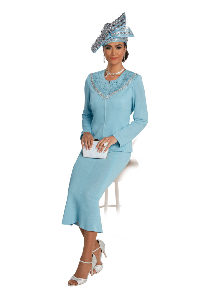 DONNA VINCI 13256 KNIT 2PC SUIT