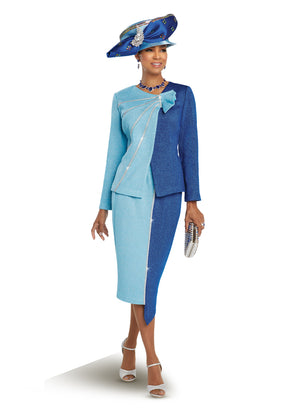 DONNA VINCI 13258 KNIT 2PC SUIT