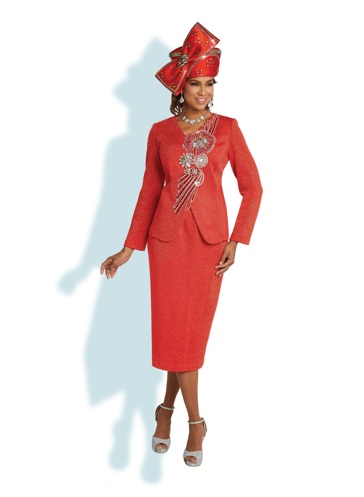 DONNA VINCI 13261 KNIT SUIT 2PC