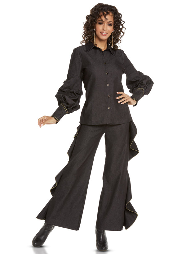 LOVE THE QUEEN 17221 WOMEN 2PC PANT SET