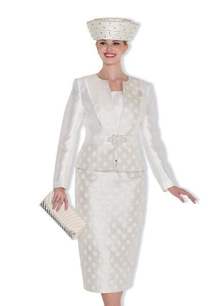 Champagne 5018 Ladies Three Piece Church Suit