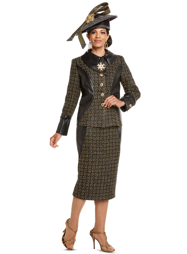 DONNA VINCI 5599 WOMEN BOUCLE SKIRT SUIT
