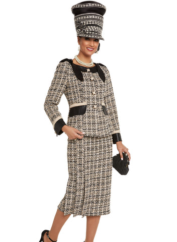 Donna Vinci 5600 Womens Pleated Skirt Suit