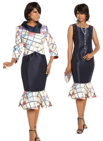 CHURCH DRESS DONNA VINCI 5614 DRESS AND JACKET SET