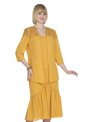 Aussie Austine 674 Double Georgette Skirt Suit