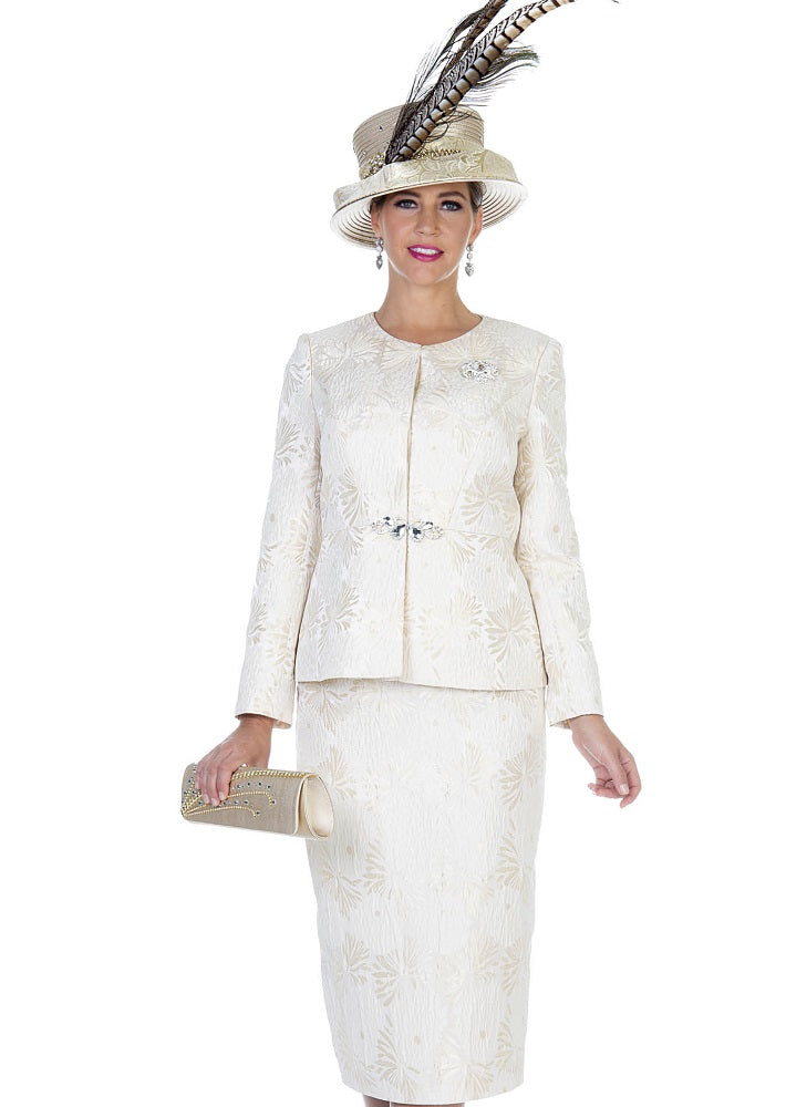 CHAMPAGNE ITALY 5110 WOMEN CHURCH SUIT