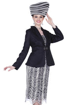 Champagne Italy 5208 Women 3Pc Skirt Suit
