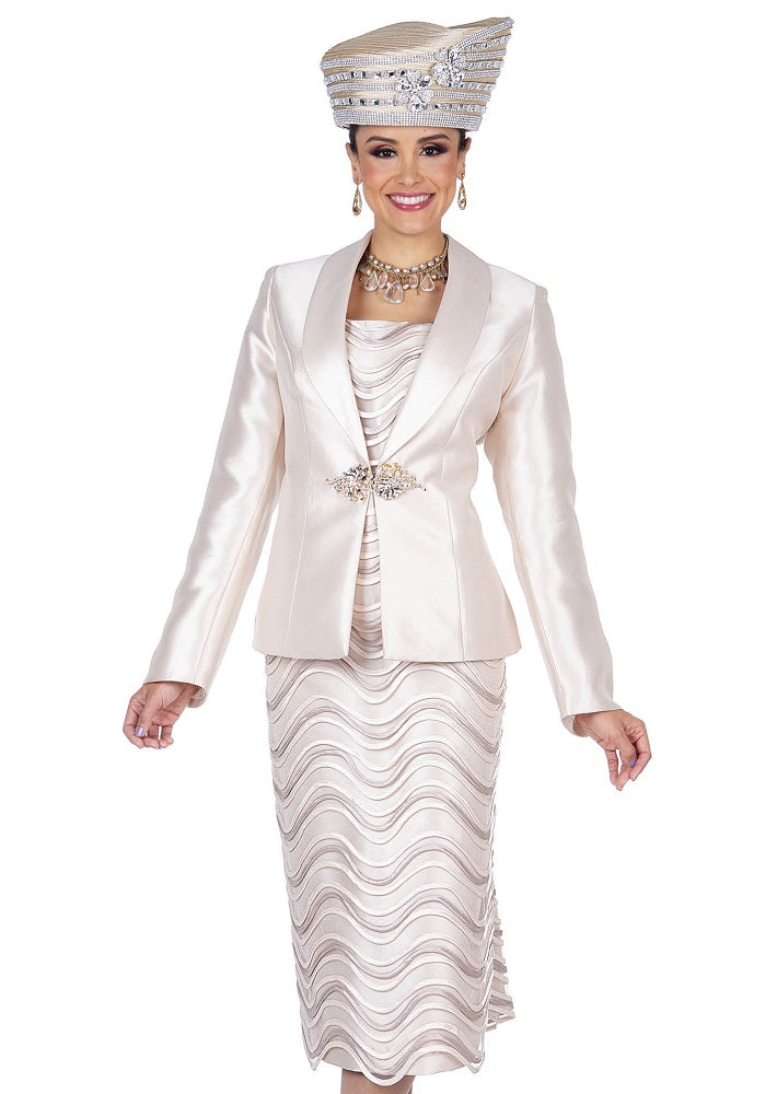 CHAMPAGNE 5212 WOMEN 3PC SKIRT SUIT