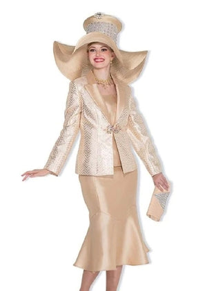 Champagne Italy 5013 Skirt Suit