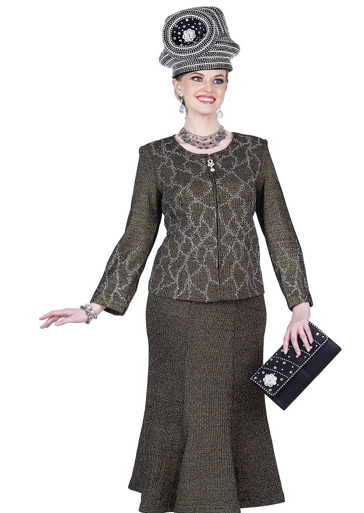Elite Champagne 5153 Knit Skirt Set