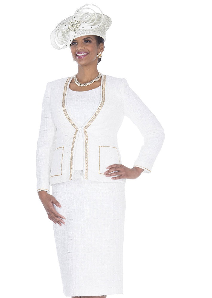 ELITE CHAMPAGNE 5254 WOMEN 3PC CHURCH KNIT