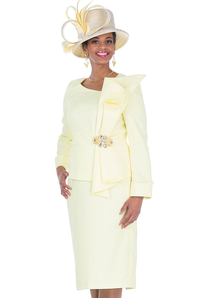 ELITE CHAMPAGNE 5271 WOMEN 2PC SKIRT SUIT