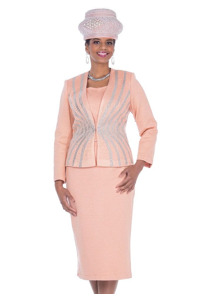 Elite Champagne 5157 Knit Skirt Set