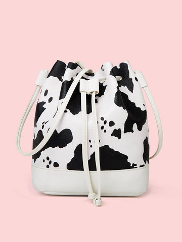 Mommy & Me Cow Print Bucket Bag Purses RTS