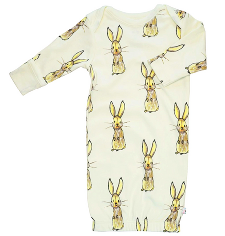 Janey Baby Long Sleeve Pattern Gown - Rabbit Pre-Order