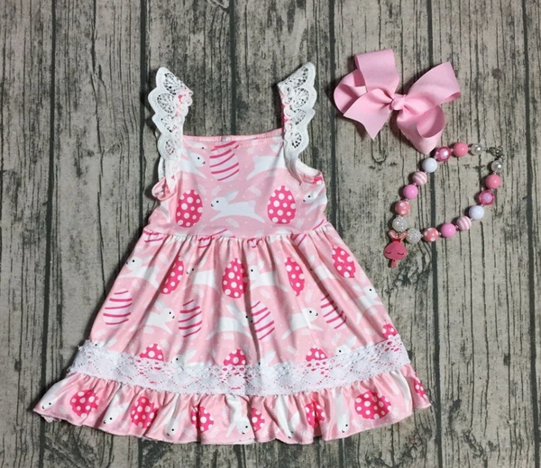 Pink Lace Bunny Dress Pre-Order