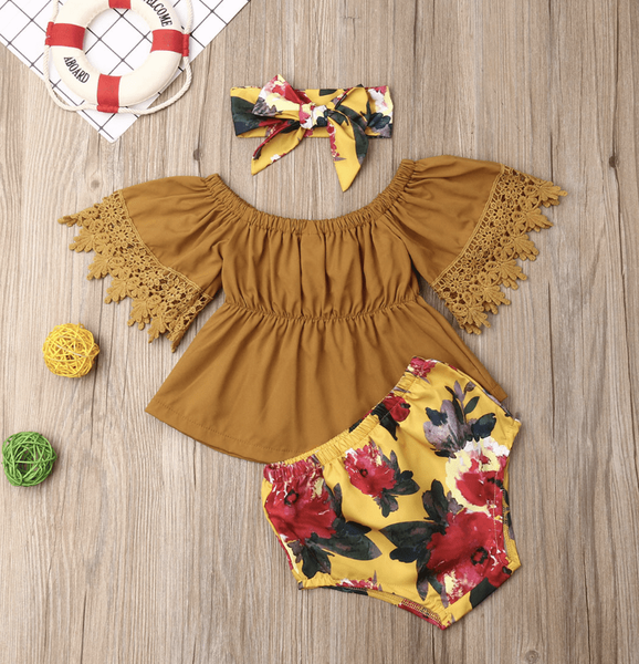Autumn Bloom Three-Piece Outfit - Elias's Journey
