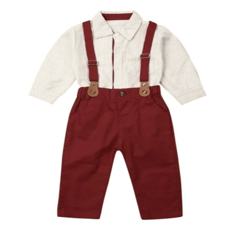 Baby Boys 3 Piece Little Gentleman Clothes Set - Elias's Journey