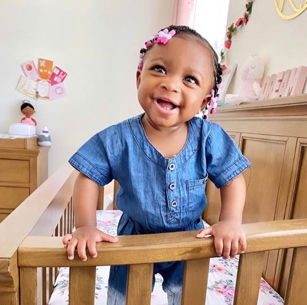 Something Blue Denim Baby Girl Romper