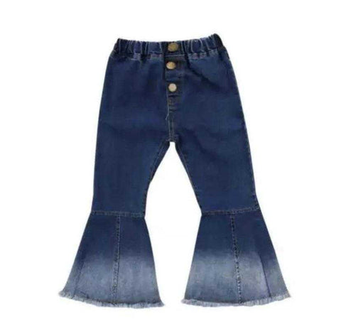 Boho Dark Denim Bell Bottoms - Elias's Journey
