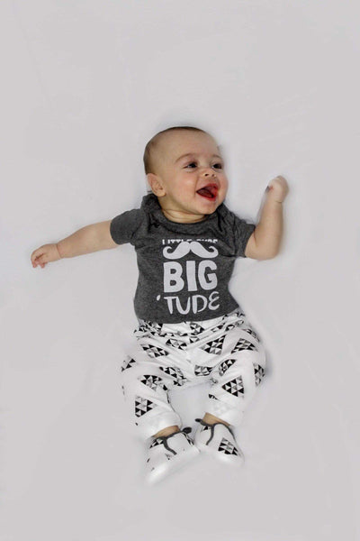 "Boys 3 piece outfit ""Little Dude Big Tude"" - Elias's Journey"