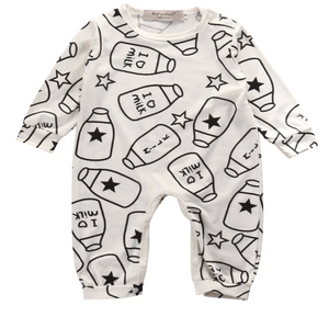 I love Milk Long Sleeve One Piece Pajama - Elias's Journey