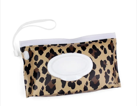 Leopard Take and Travel™ Pouch Reusable Wipes Case