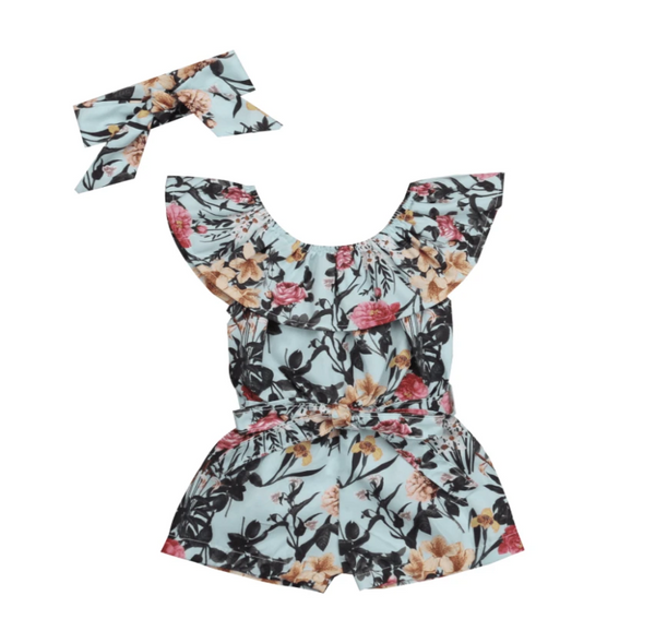 Jade Floral Romper Set - Elias's Journey