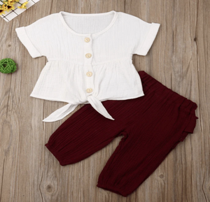 Maroon Afternoon Outfit Set - Elias's Journey