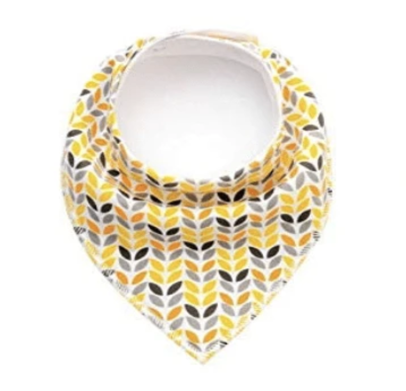 Organic Cotton Bandana Bib -Colorful Yellow - Elias's Journey