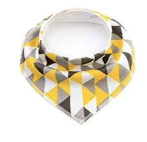 Organic Cotton Bandana Bib - Geometric - Elias's Journey