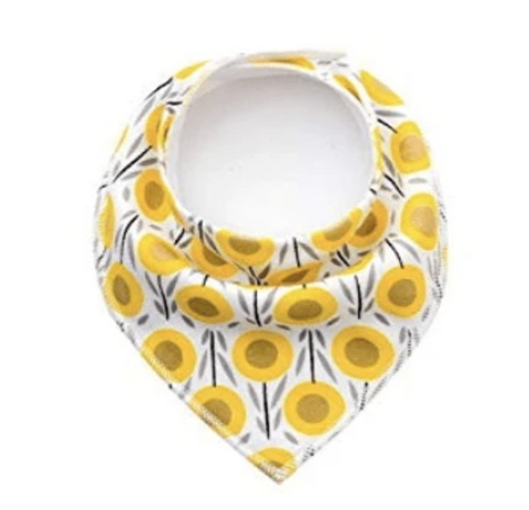 Organic Cotton Bandana bib - Sunflower - Elias's Journey