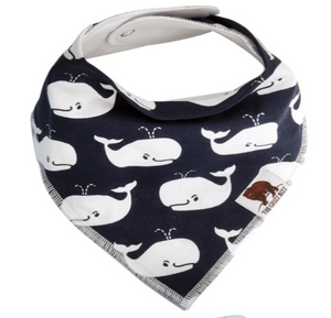 Organic Cotton Bandana Bib -Whale - Elias's Journey