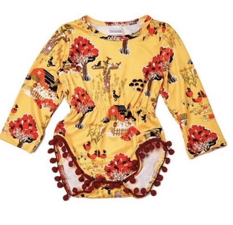 Yellow & Red Baby Romper - Elias's Journey