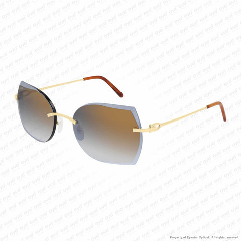 Cartier - Ct0004Rs Gold/bronze Gradient (001) Sunglasses